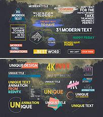 31个标题字幕动画包装视频模板