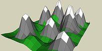 山体SKP模型素材设计