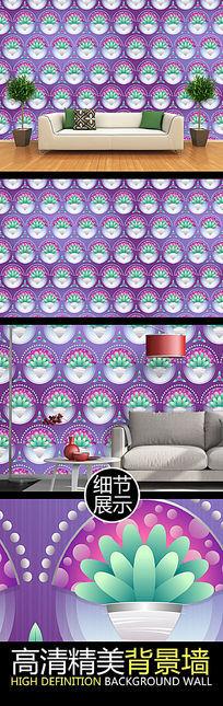 唯美精致微立体花纹图案背景墙