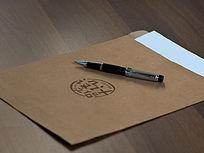 牛皮纸档案袋LOGO标志展示样机