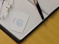 日记本名片背景LOGO标志展示样机