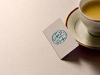 特种纸名片背景LOGO标志展示样机