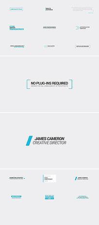 15个简洁文字标题排版AE模板