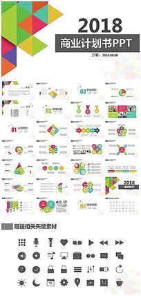 框架完整创业融资商业计划书PPT