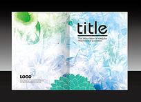 蓝绿色花纹清新封面设计