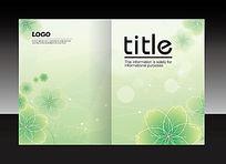 绿色清新花卉创意封面设计