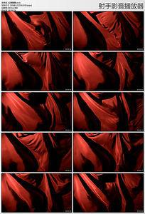 红绸飘飘视频素材