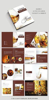威士忌洋酒酒类宣传画册设计