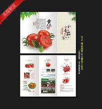 小番茄三折页设计