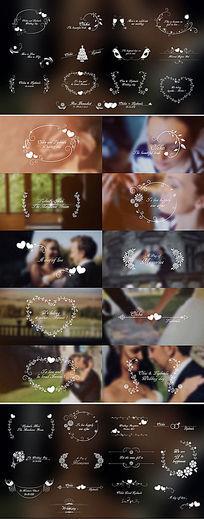浪漫欧式简约婚礼婚庆文字标题动画模板