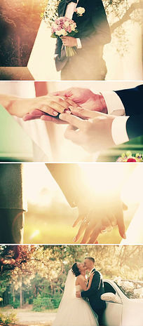 浪漫唯美婚礼视频片头模板