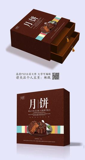 巧克力高档月饼盒包装设计