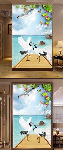 现代海边风景玄关图片设计