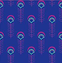 孔雀羽毛底纹图案设计