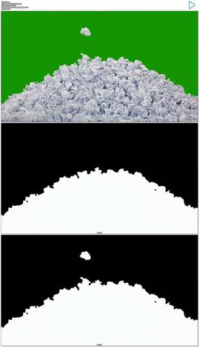 工作没灵感不断扔废纸绿屏抠像视频素材