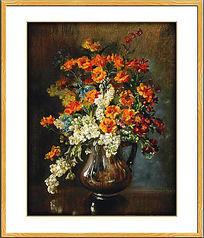 高清餐厅古典花卉油画