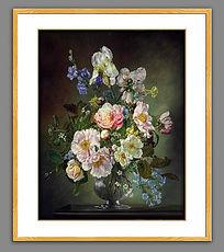 高清古典花卉油画