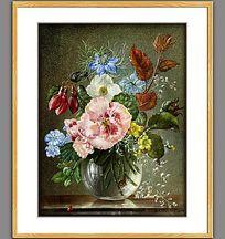 高清古典欧式油画花卉