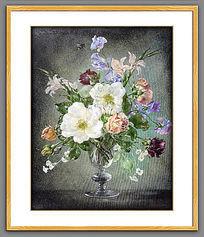 高清静物古典花卉油画