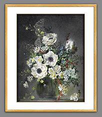 古典简欧花卉油画