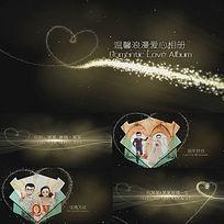 会声会影X6金色粒子爱心婚礼相册模板