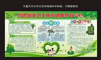 创国家卫生城市环保展板设计