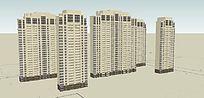 高层住宅SU模型