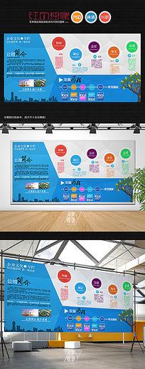 大型通用企业文化背景墙