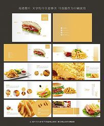 西餐美食快餐汉堡三明治火腿培根产品菜单