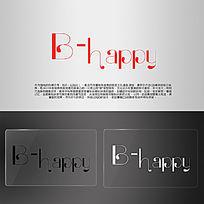 BHAPPY英文唯美LOGO