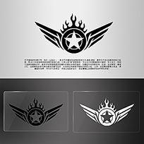 欧美翅膀火焰游戏模型LOGO