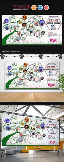 创意时尚企业员工风采背景墙