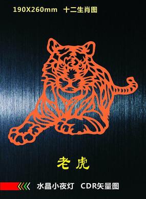 老虎矢量圖