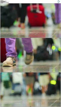 人流行走脚步实拍视频素材