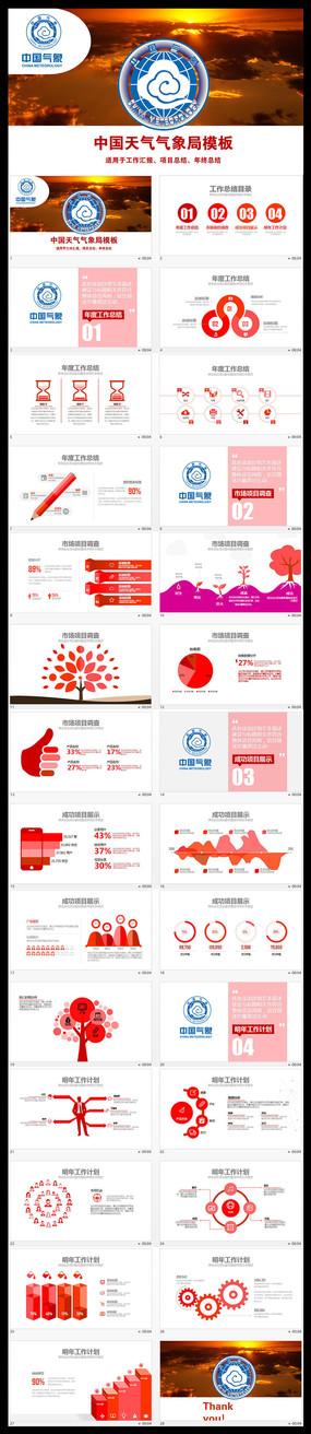 中国天气气象局PPT模板