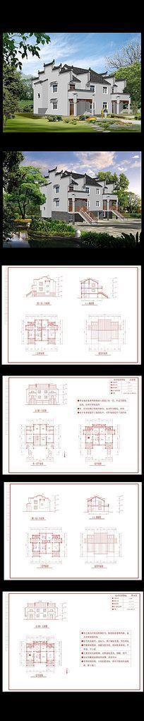 农村徽派别墅设计图