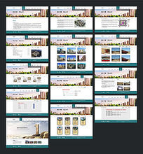 精美房地产网站整套界面设计