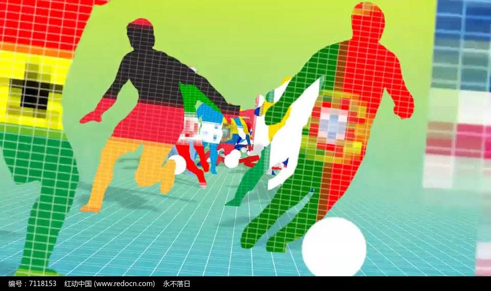 像素化足球世界杯片头AE模板图片