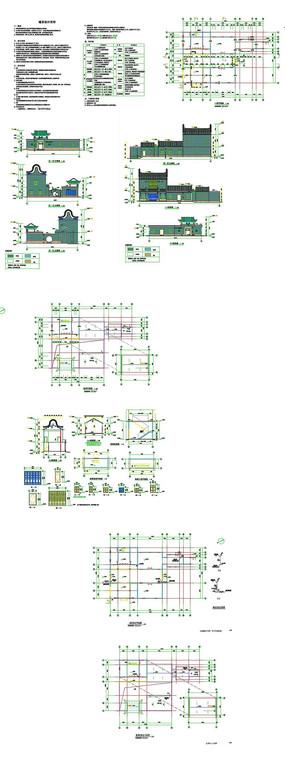 祠堂建筑CAD图