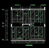 卧室对开门衣柜装饰柜CAD图纸
