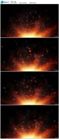 火花粒子背景视频素材