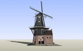 发电风车景观楼