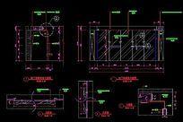 地下娱乐室酒窖立面图及大样图