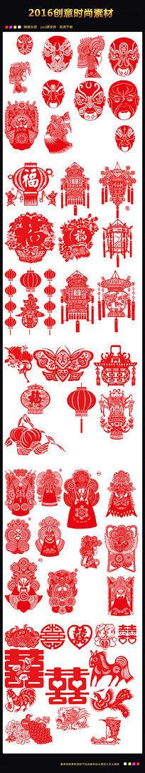 中国剪纸图素材图片下载