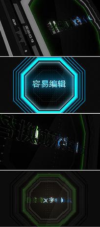 3款logo标志文字演绎片头模板