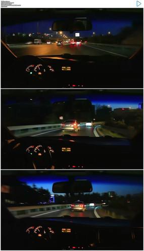 夜晚开车视频素材