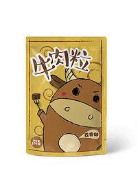 可爱小牛牛肉粒包装设计