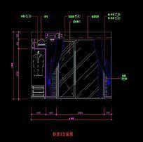卧室3推拉门造型立面图