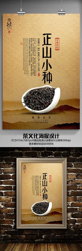 武夷红茶正山小种茶文化海报设计