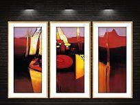 大气现代抽象装饰画